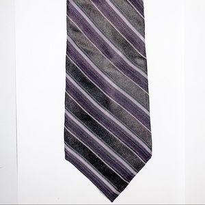 Striped satin tie